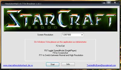 StarCraft resolution 1280x800