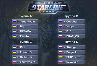 Группы StarLine 1xBet League 2